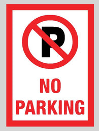 Warning No Parking Sticker