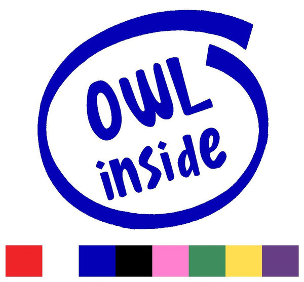 Owls Silhouette Decal Vinyl Sticker