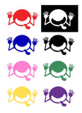 Monster Face Silhouette Decal Vinyl Sticker
