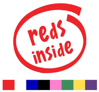 Reds Silhouette Decal Vinyl Sticker