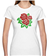 Roses Glitter T Shirt Available in 3 Designs