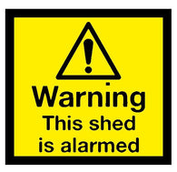 Warning This shed is alarmed Sticker
