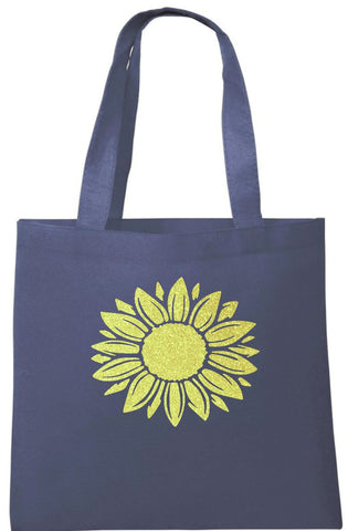Glitter Sunflower Tote Bag - Can Be Personalised