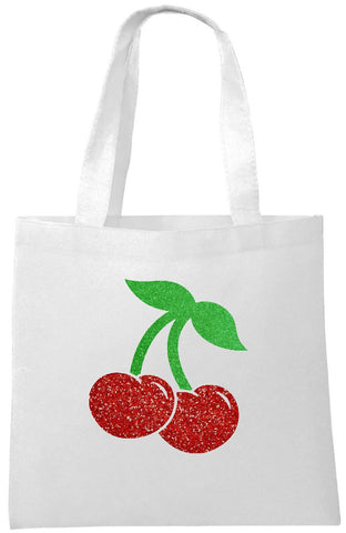 Glitter Cherries Tote Bag - Can Be Personalised