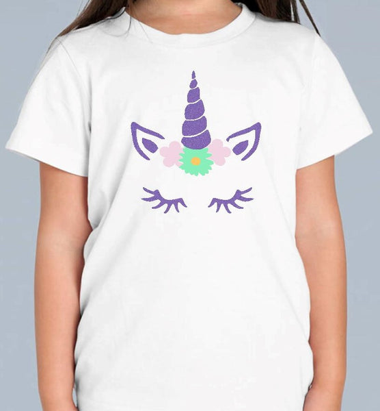 Unicorn Glitter T Shirt Personalised 4 Designs