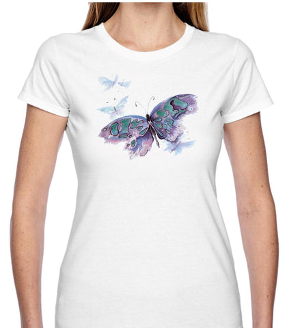 Watercolour Butterfly T Shirt
