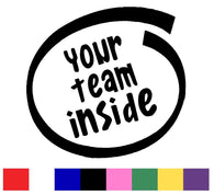 Your Team Inside Silhouette Decal Vinyl Sticker