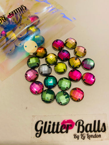 26. Small rainbow round 10mm x 30 pieces