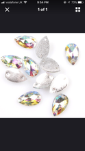 23. Small iridescent glass effect teardrop 6x13mm x 30