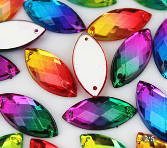 Large graduated colour gems x 15
