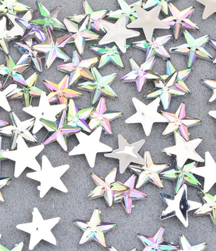 Small 10mm iridescent stars. X15 pieces