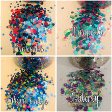 Cosmetic glitter grab tubs.