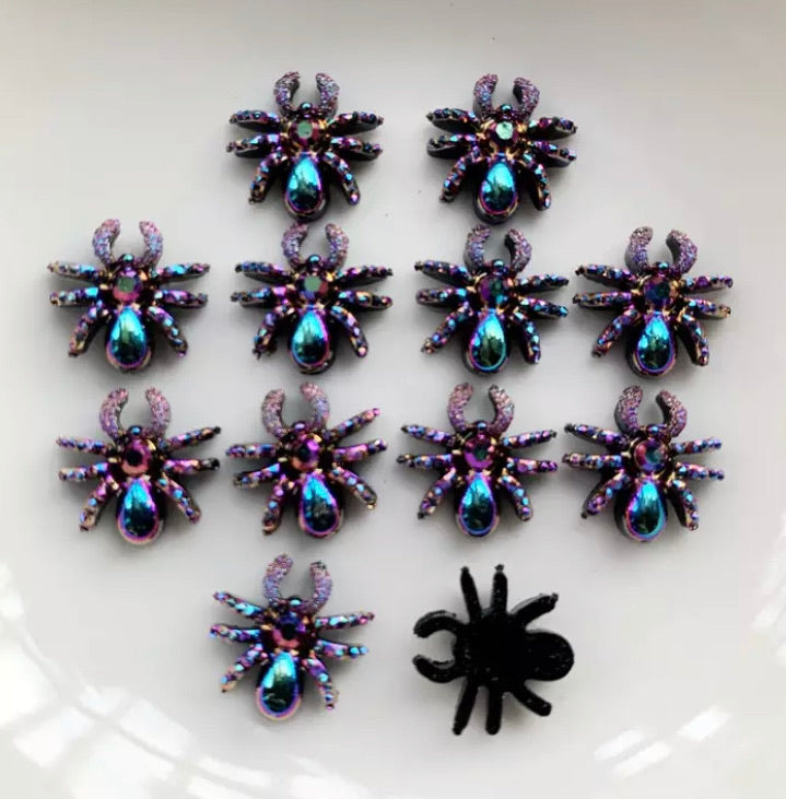 Small spider gems x20 pieces 12mm