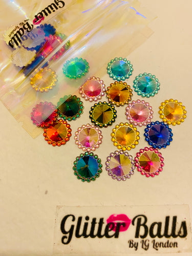 40. Medium Sunflower medium 12mm mixed colour x 30 pieces