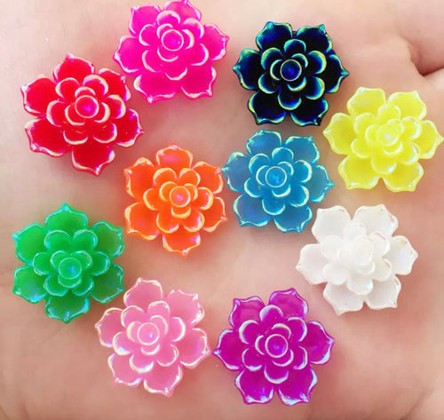 107. X-large pointy flowers x 8 pieces 20mm