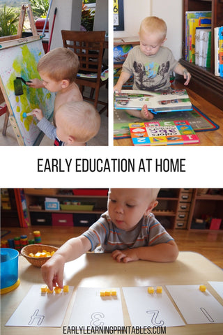Early Education at Home with two boys.