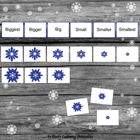 Size Sorting from Biggest to Smallest Activity for Toddlers