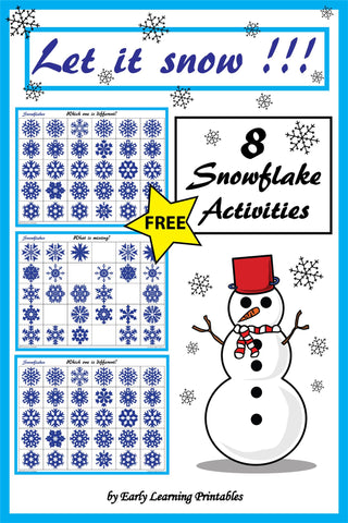 Free Snowflake Activity Pack for Young Children