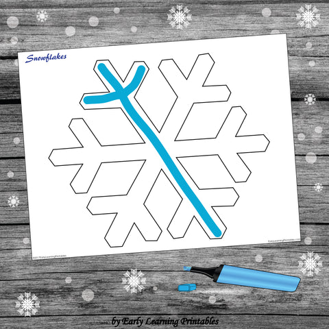 Snowflake Outline for Children