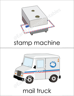 Engaging and fun Post Office (set II) flashcards for young children!