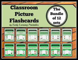 The greatest deal in our store! 120 flashcards of classroom related words.