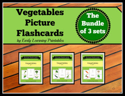 Gorgeous bundle of 30 vegetable flashcards for toddlers!