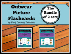 Practice outwear vocabulary with these cute flashcards!