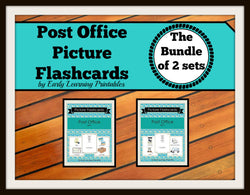 Discounted bundle of post office flashcards for toddlers.