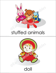 Colorful picture cards of baby's toys!