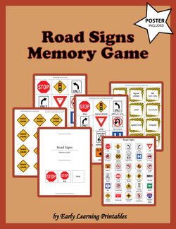 Road Signs Memory Game Poster.