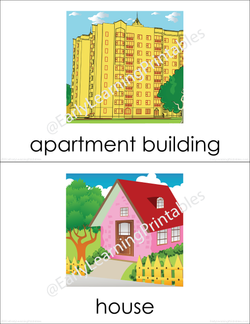 Learn all different types of housing with these beautiful flashcards!