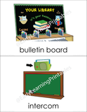 Beautiful classroom object flashcards to use with your child!