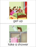 Lovely Everyday Activities (set I) flashcards for your little one!
