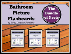 Awesome Bathroom Bundle Deal of toddler flashcards.