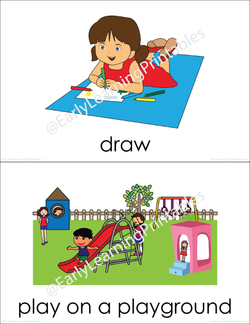 Lovely flashcards of Leisure Time (set III) with bold words underneath pictures!