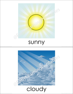 Perfect cards for learning weather related vocabulary!