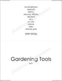 Organize Gardening Tools (set I) picture cards with this neat sleeve.