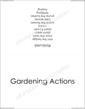 Printable organizing sleeve for all the Gardening Actions cards.