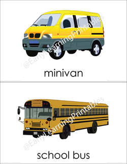 Gorgeous pictures of different types of transportation to learn new vocabulary!