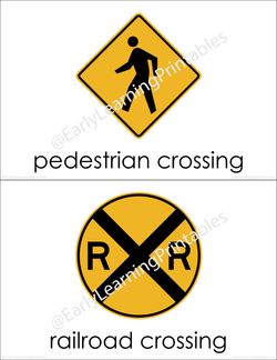 High-quality flashcards of different types of road signs!