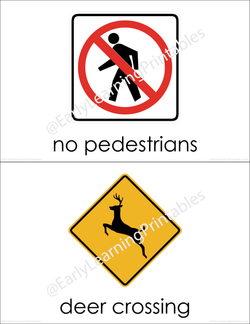 High-quality flashcards of Road Signs (set III) for your young learner!