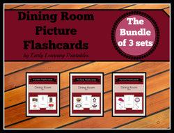 Beautiful flashcards for toddlers. Bundle of 3 sets with 30 cards.