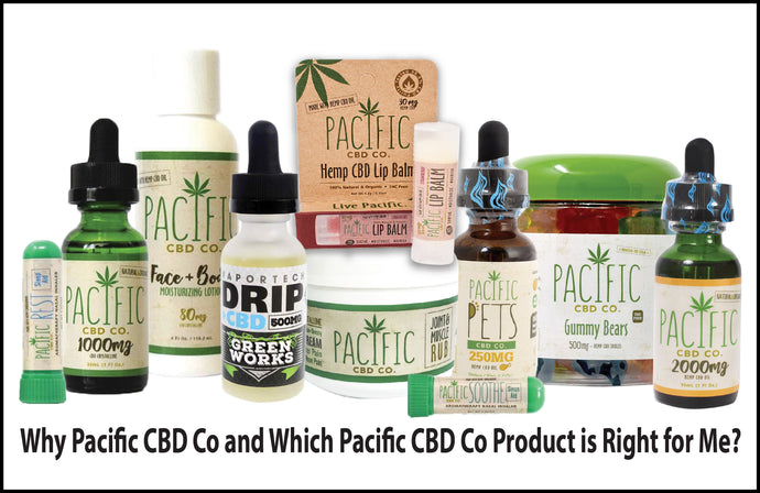 Why Pacific CBD Co and Which Pacific CBD Co Product is Right for Me?