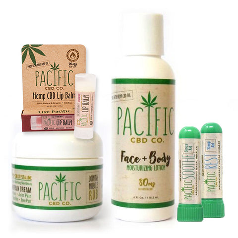 Paradise Valley Products Pacific CBD Co Body Collection