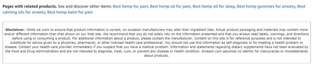 Beware of Buying CBD on Amazon - Paradise Valley Products blog post