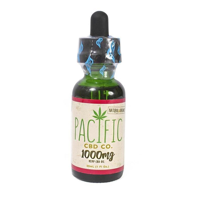 Pacific CBD Hemp Oil 1000mg Pure CBD Tincture Strawberry Flavor Drops - Paradise Valley Products