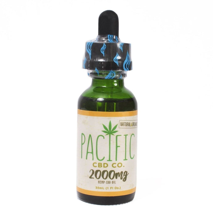 Pacific CBD Hemp Oil 2000mg Pure CBD Tincture Mango Flavor Drops - Paradise Valley Products
