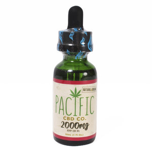 Paradise Valley Products Pacific CBD Co 2000mg CBD Oil Strawberry Flavor Drops