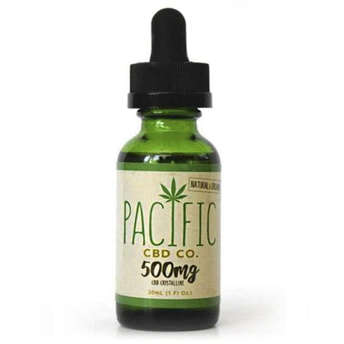 Pacific CBD Hemp Oil 500mg Pure CBD Tincture Peppermint Flavor Drops 30ml - Paradise Valley Products