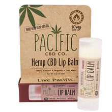 Pacific CBD 30mg Hemp CBD Infused Strawberry Lip Balm .15oz Paradise Valley Products
